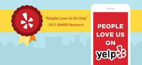 "We receive the ""People love us on Yelp!"" Award year after year!"
